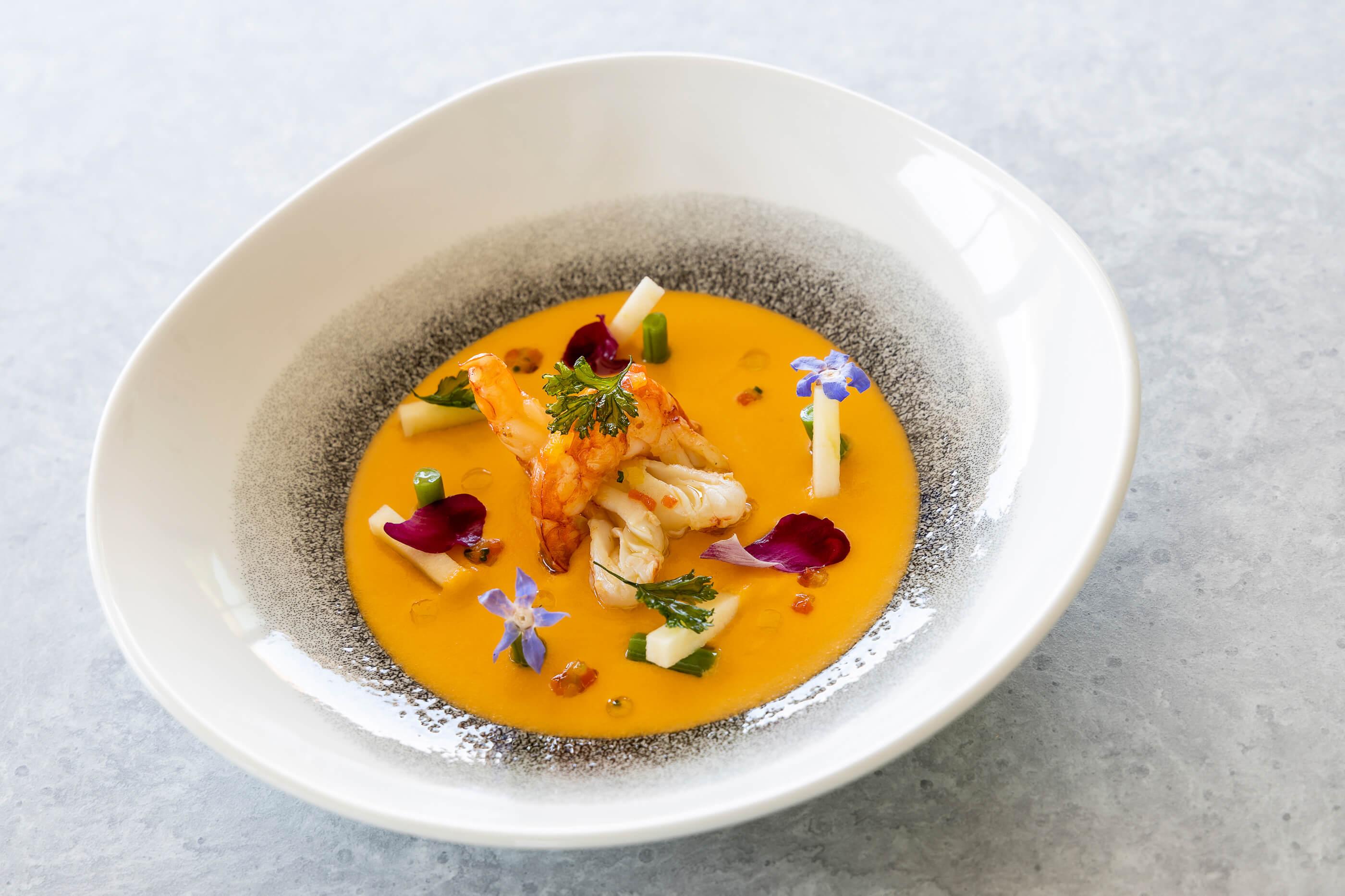 Plat du Restaurant Bistronomique de l'Hôtel Sainte Victoireà Vauvenargues