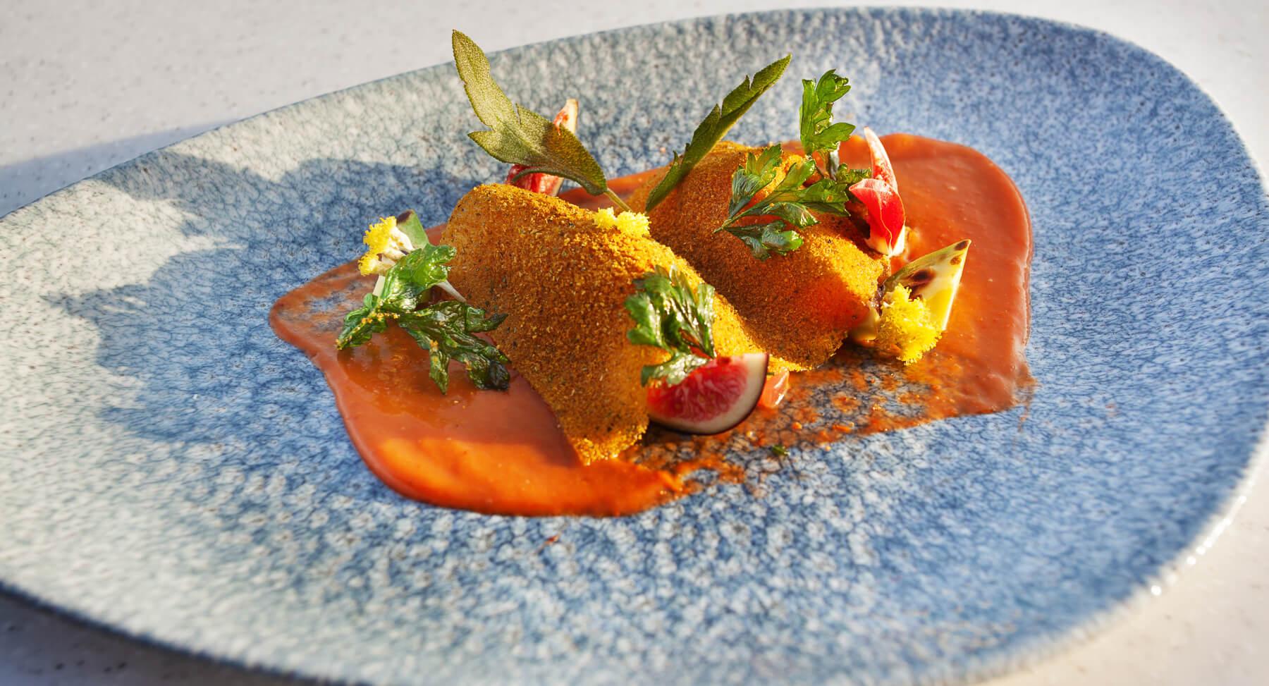 Plat du Restaurant Bistronomique Franco-Brésilien à Vauvenargues de l'Hôtel Sainte Victoire