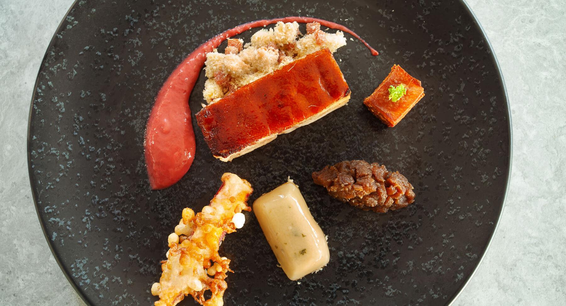 Plat du Restaurant Bistronomique Franco-Brésilien de l'Hôtel Sainte Victoireà Vauvenargues