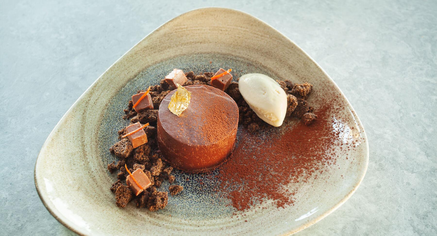 Dessert duRestaurant Bistronomique Franco-Brésilien à Vauvenargues de l'Hôtel Sainte Victoire